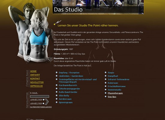Layout für The Point Fitness Studio